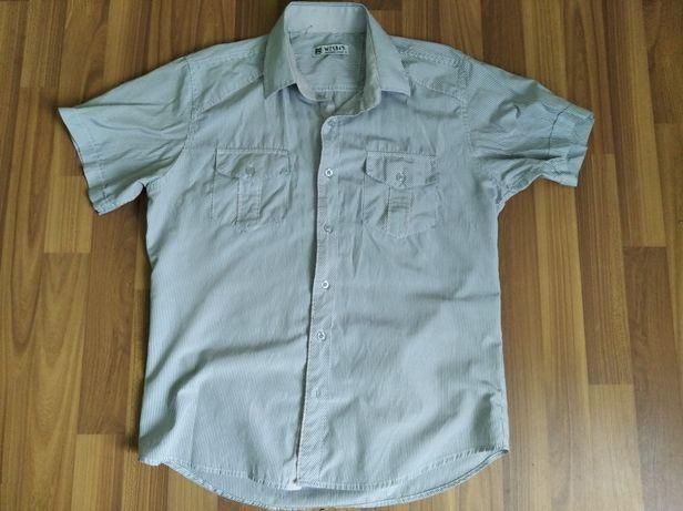 Сорочка комір 42 см, з коротким рукавом рубашка + джинсы 31 размер