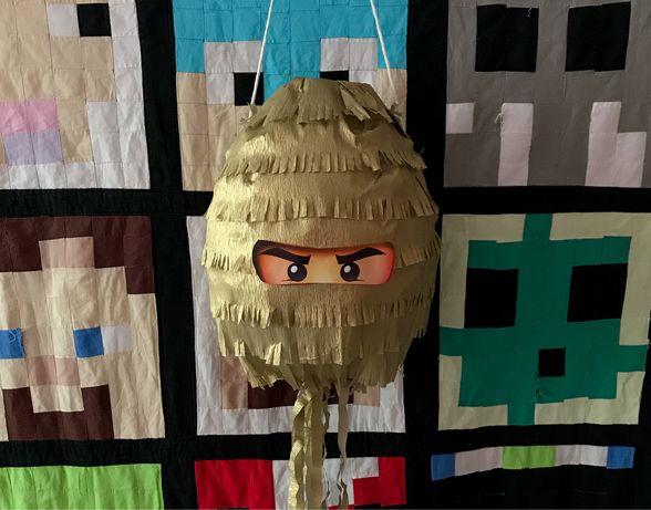 Piniata Ninjago złoty Lloyd ninja urodziny