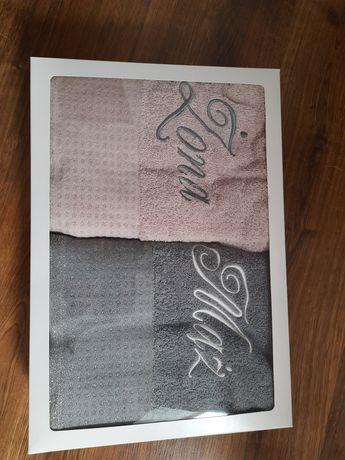 Ręczniki ślubne Mąż Żona prezent ślubny