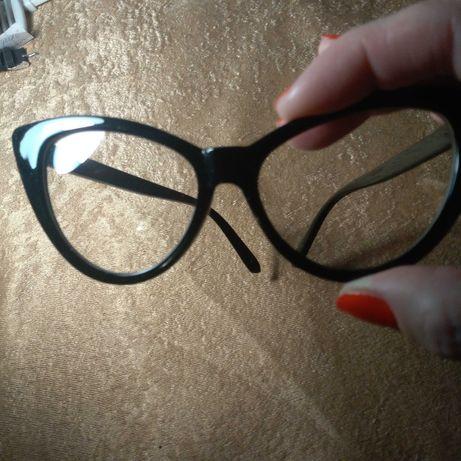 """Имиджевые очки """"кошачий глаз"""", черные"""