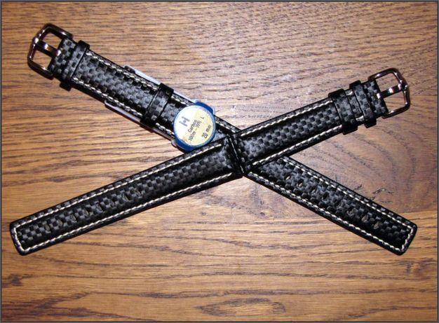 Rolex. Hirsch CARBON, 20мм, черный, длина L. Ремешок. Omega. Breitling