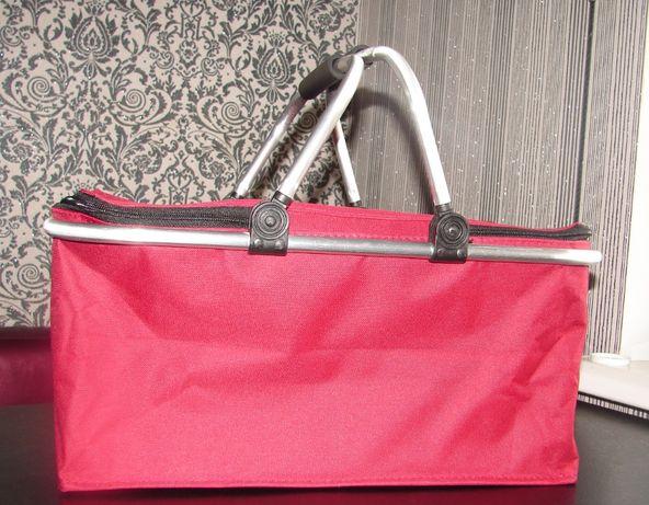 Складная термокорзина, термосумка, сумка-холодильник для пикника