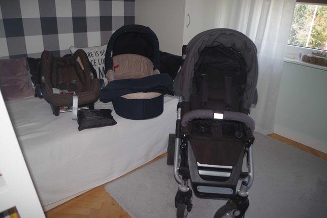 Wózek Teutonia spacerówka gondola plus fotelik Maxi Cosi