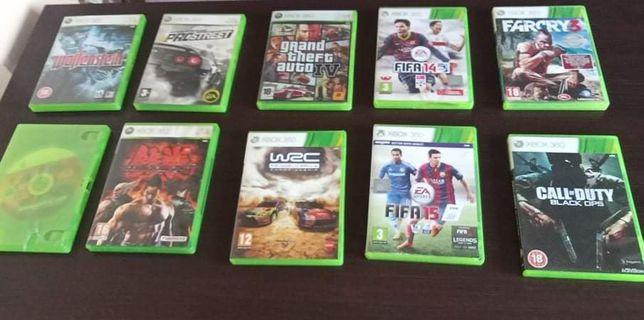 Sprzedam gry na Xboxa 360 180.cena za wszystkie