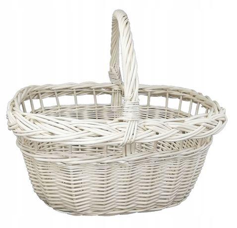 Koszyk miejski, wiklinowy na zakupy, prezent, piknik