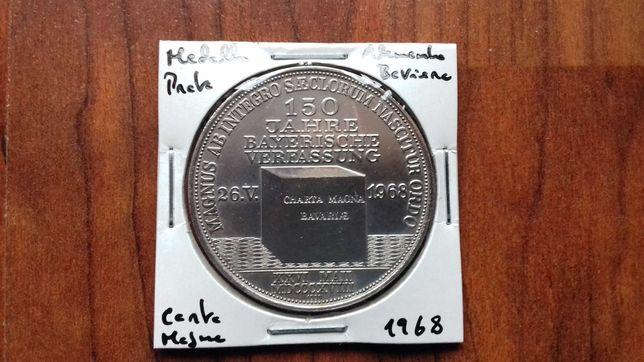 Medalha de Prata Alemanha Baviera - Carta Magda