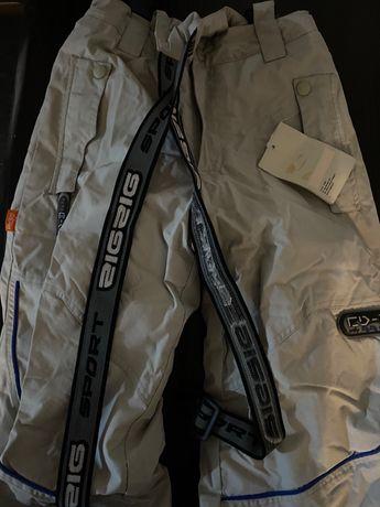 Spodnie ocieplane, narciarskie NOWE 140cm
