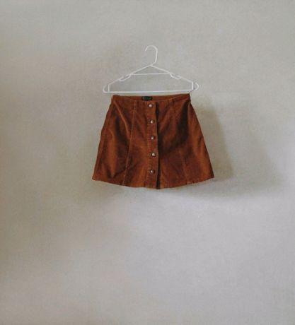 Вельветовая юбка Topshop на кнопках