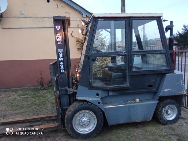 wózek widłowy 4 tony ZREMB GPW 4000 RAK 2000 ROK Perkins 4 ursus c 330