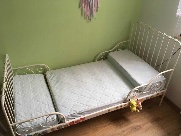 Łóżko dziecięce regulowane IKEA MINNEN + materac