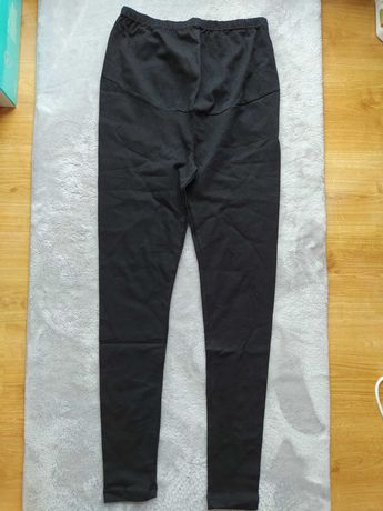Czarne legginsy ciążowe L/XL