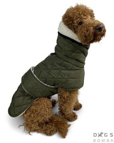 Жилет для собаки мех на липучке 8 размеров 5 цвета капюшон на синтепон