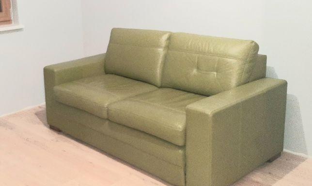 Skórzana sofa z funkcją spania