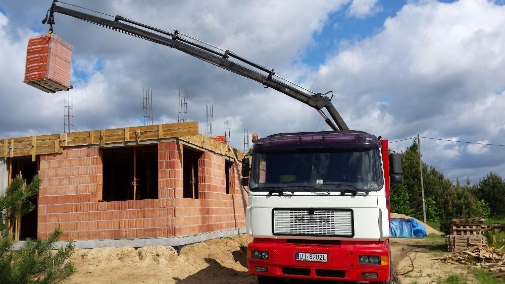 Usługi transportowe z HDS, transport materiałów budowlanych,kontenerów