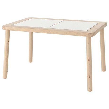 Mesa para criança IKEA FLISAT + 2 caixas de arrumação TROFAST