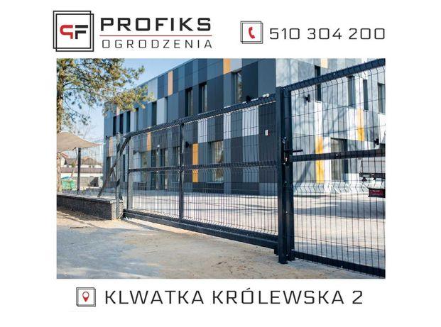 PROMOCJA !!! Ogrodzenie panelowe 1,53m + podmurówka = 1,8m KOMPLETNE