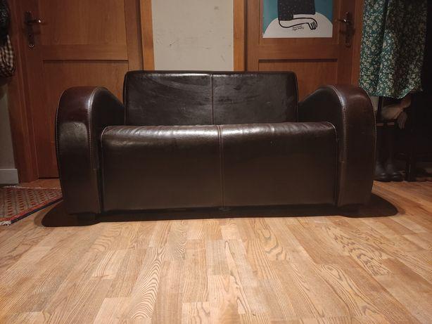 Skórzana dwuosobowa sofa