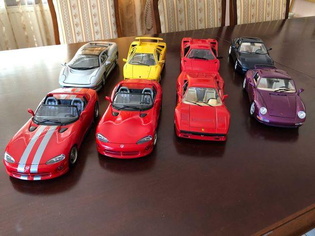 Kolekcja Modeli Samochodów Ferrari i Lamborghini 1:18 Maisto Bburago