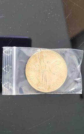 Moeda de ouro 50 pesos mexicanos 1946