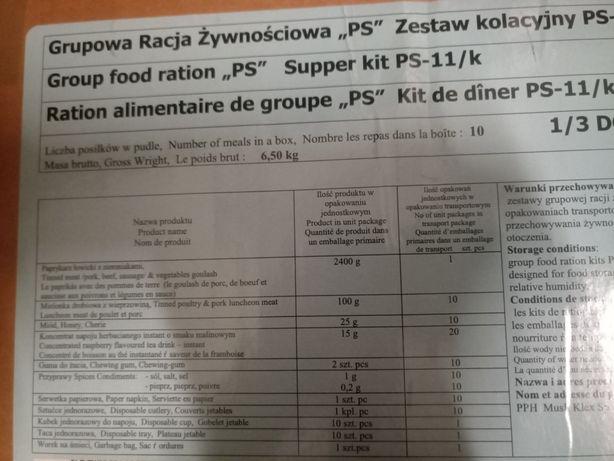 Grupowa Racja żywnościowa zestaw kolacyjny