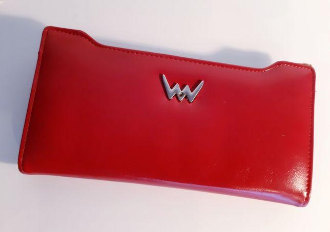 Czerwony damski portfel Vuch. Nowy.