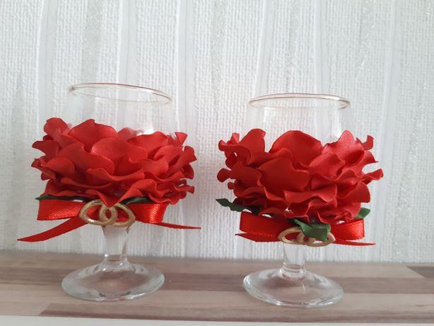 Kieliszki weselne dla pary młodej