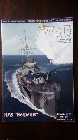 HMS Hesperus 1:200 model kartonowy WAK