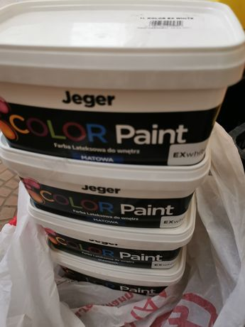 Jeger color paint Extra White matowa
