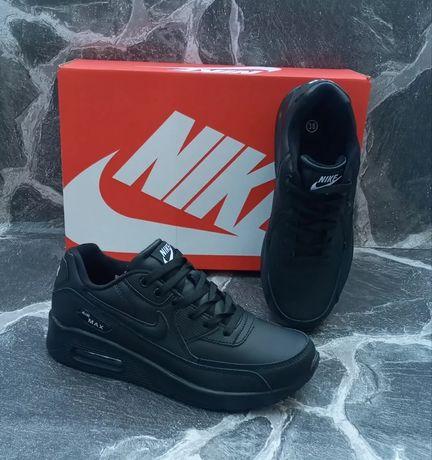 Кроссовки женские подростковы Nike Air Max 90 черные Найк Аир Макс 90