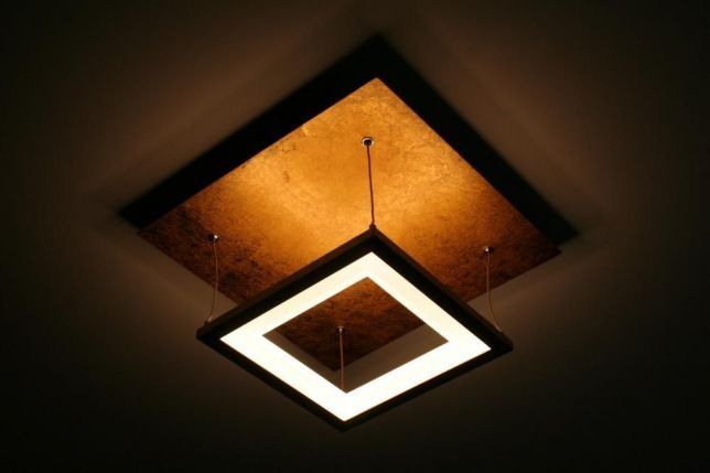 Stylowa nowoczesna Lampa sufitowa wisząca LED złota NEVIS Paul Neuhaus