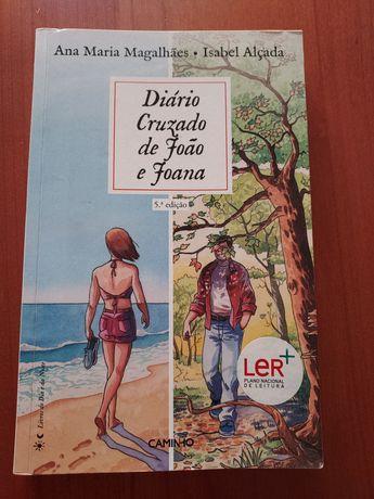 """Livro """"Diário cruzado de João e Joana"""" Ana M Mag Isab Alçada"""