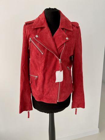 Стильная кожанная брэндовая косуха курточка