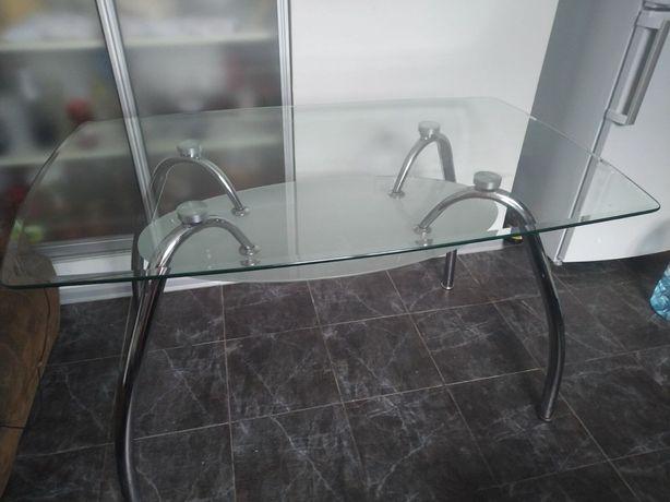 Стеклянный, обеденный (кухонный) стол. 7500руб
