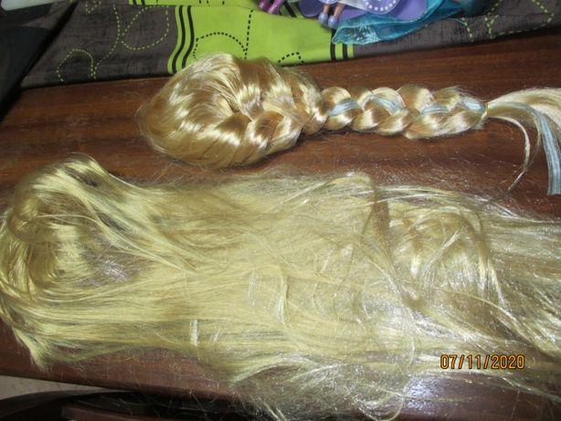 2 cabeleiras loiras, fantasia para criança