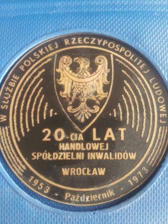 Medal pamiątkowy-lata 70- te.