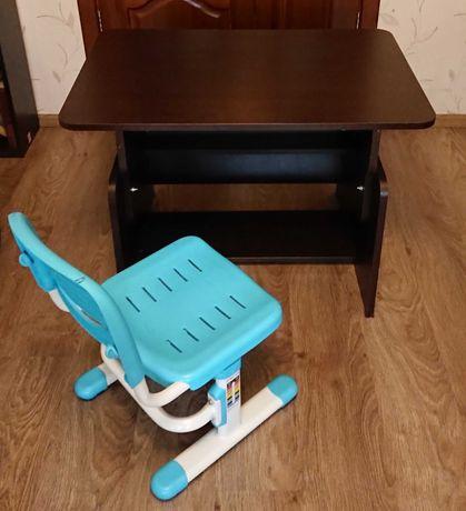 Школьный стол парта, регулируемая + стул