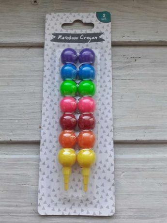 Цветные карандаши радуга 7 в 1