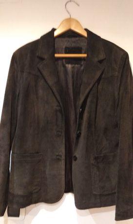 casaco pele aveludada preto