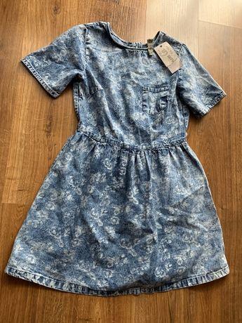 Dżinsowa sukienka z krótkim rękawem M super styl Nowa z metkami wiosna