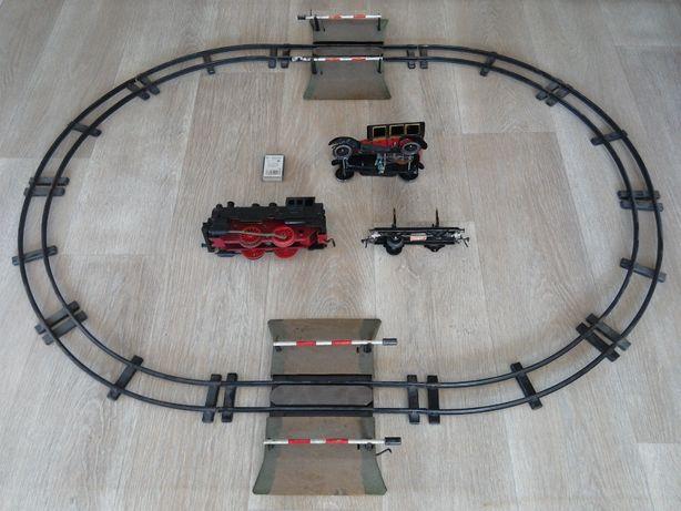 stara zabawka PRL kolejka RETRO lokomotywa tory stare zabawki czz piko
