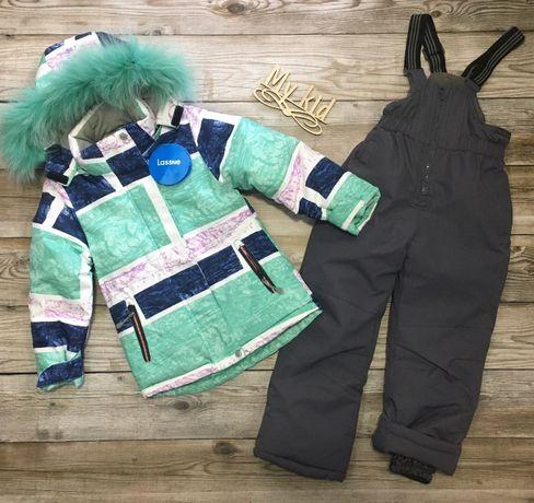 Зимний костюм детский , теплая куртка и полукомбинезон для девочек.