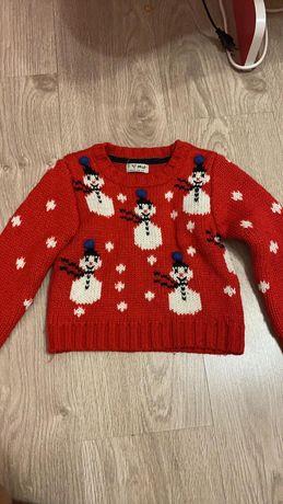 Теплый свитер.Праздничный