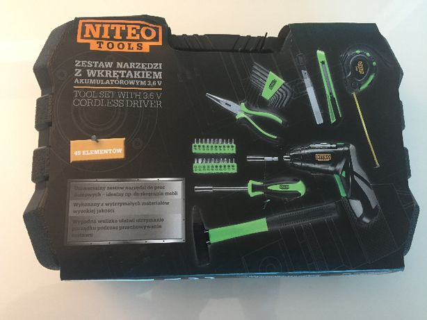 zestaw narzędzi z wkrętakiem 3,6v niteo tools
