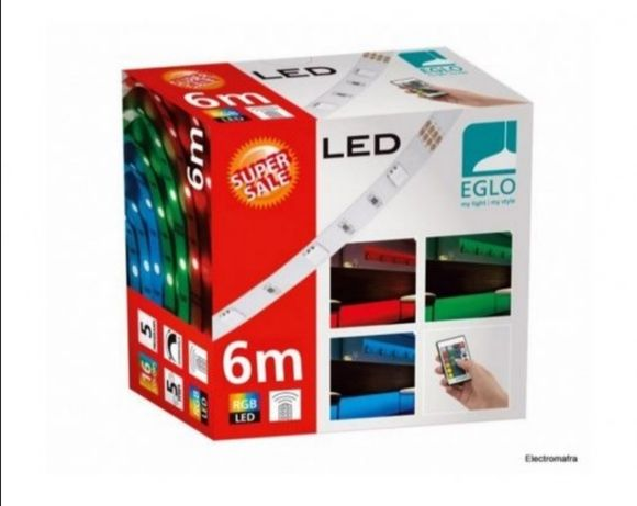 Pack de 4 fitas LED RGB 16 cores com comando de 6 metros cada NOVO!