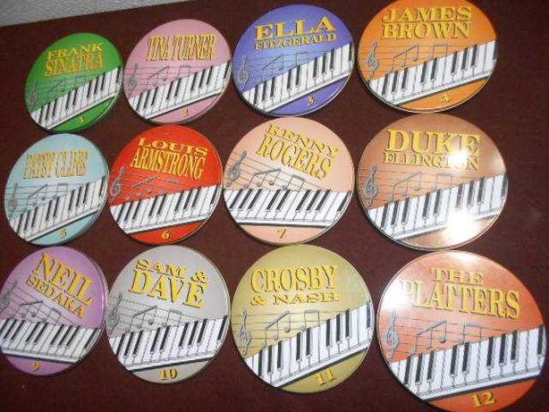 Colecção de 12 CDS em formato Lata de metal
