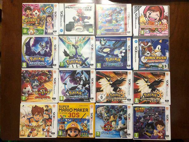 +60 Jogos Nintendo DS e 3DS (Pokemon Ultra Moon Sun X Y - Super Mario)