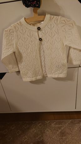 Lupilu pure collection 62/68 nowy sweter ażurowy kremowy