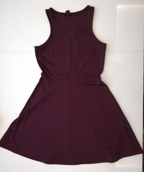 Bordowa sukienka bez rękawów H&M rozm. S
