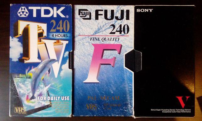 Cassetes VHS Sony TDK IMC Fuji Panasonic Maxell