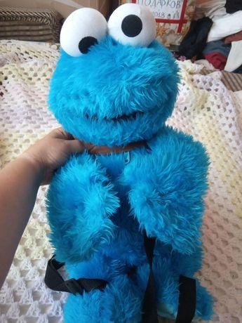 Игрушка-Рюкзак Коржик (Cookie Monster) Улица Сезам